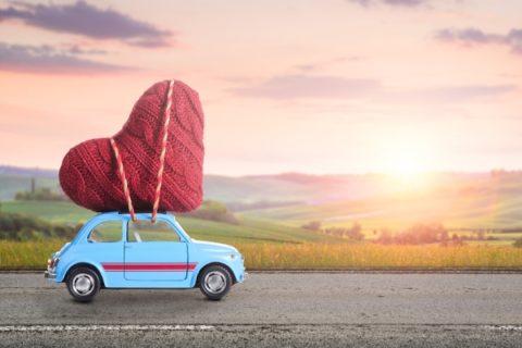 Heart on Car
