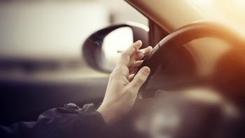 smoking on wheel