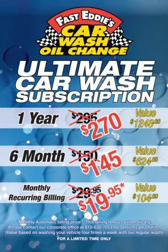 Car Wash subscription Options