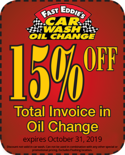 15 percent off oil change